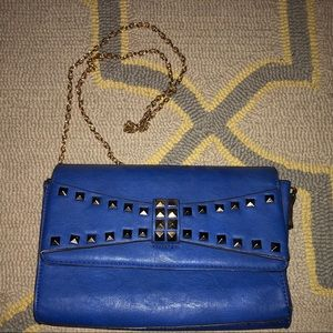 Urban Expressions Blue Shoulder Bag
